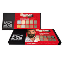 encore alcohol palette hair beard light to dark