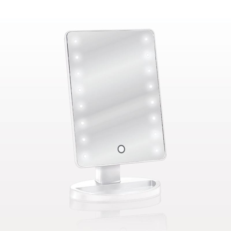 specchio illuminato led inclinabile