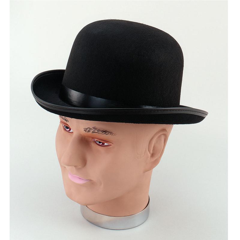 Vendita cappello bombetta in feltro nera online  d9464fd2697d