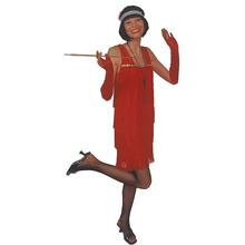 costume anni 20 charleston rosso 36 38 ec91cb03cbc