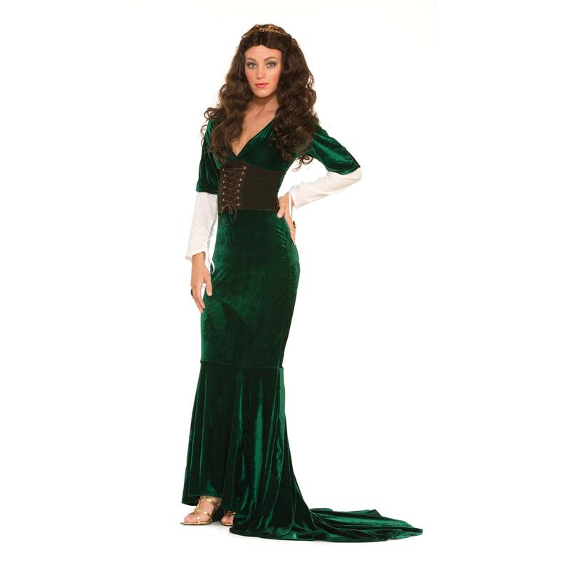 13147d4d30824 Vendita costume fantasy verde donna medioevo online