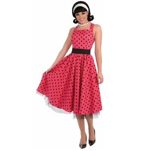 the latest 86be0 b2ea7 Vendita costume anni '50 polka rosso nero online | Shop ...